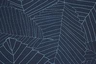 Kraftig textildug i marine med lyseblåt stregmønster