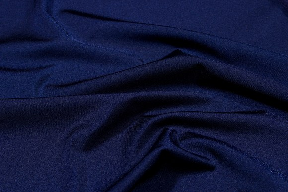 Marineblå stretchlycra til dansetøj, toppe og leggings.
