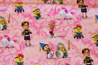 Pink og rosa bomuldsjersey med Minions