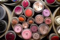 Røde-pink knapper