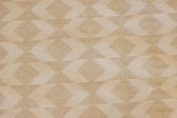 Sand og off white bomuld/polyester i , 5 cm mønster