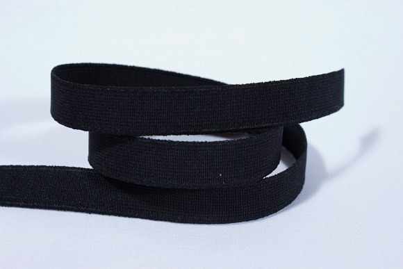 Sort, god, fast elastik 2,5 cm bred