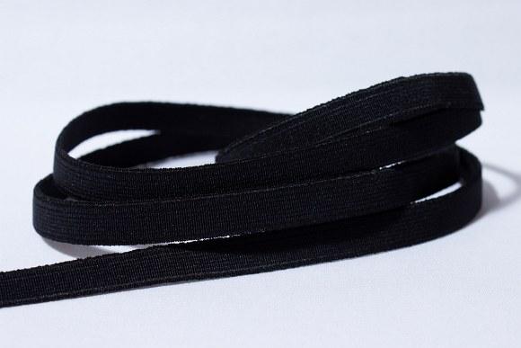 Sort god fast elastik, 2 cm bred