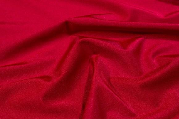 Stærk rød stretchlycra til dansetøj, toppe og leggings.