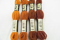 Uldbroderigarn DMC orange-brune