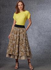 Top og nederdel, Sandra Betzina. Vogue 1705.