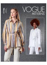 Bluser og skjorter og bælte. Vogue 1786.