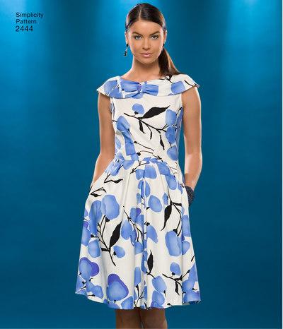 Knælange, klassiske kjoler med svaj