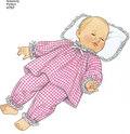 Mønstret indeholder mønstre til dukkestørrelserne: 30,50-35,50cm 40,50-45,50cm og  51-56cm