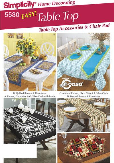 Bord tilbehør, dækservietter, bordløber