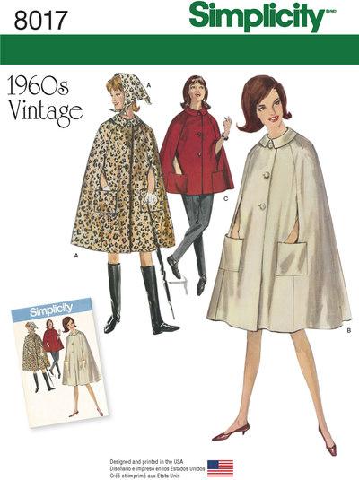 Vintage 1960er stil kapper i 2 længder