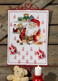 Julepakkekalender Julemandens værksted. Permin 34-8266.
