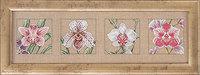 Vægbroderi med orkideer. Permin 70-5125.