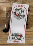 Permin 75-9646. Table runner with elf and reindeer.