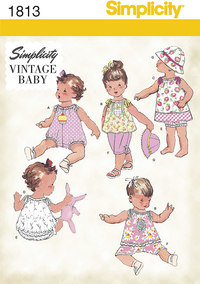 Kjoler og toppe til småbørn og babyer. Simplicity 1813.