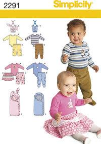 Babytøj. Simplicity 2291.