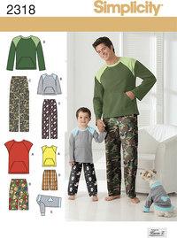 Nattøj og hjemlig hygge tøj. Simplicity 2318.