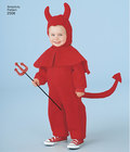 Børneudklædning som kanin, bjørn, skildpadde, djævel