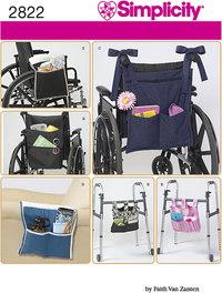 Lommepose til rollator og rullestol. Simplicity 2822.