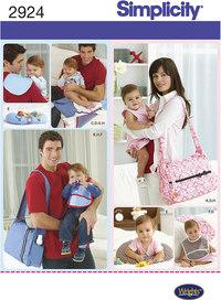 Tasker, pusletaske, baby tilbehør. Simplicity 2924.