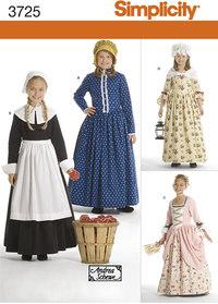 Amish, klassiske kjoler, 1700-1800 tals. Simplicity 3725.