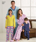 Pajamasbukser, top, futsko og fjernkontrol-holder