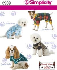 Hundetøj i 3 størrelser. Simplicity 3939.