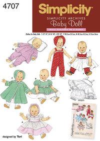 Babydukketøj. Simplicity 4707.
