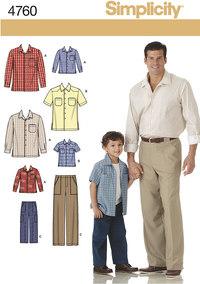 Skjorter og bukser. Simplicity 4760.