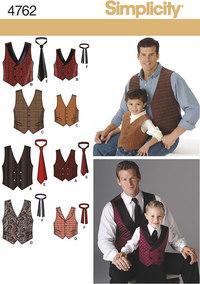 Veste og slips. Simplicity 4762.