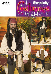 Pirate udklædning - Pirates of the Carribean. Simplicity 4923.
