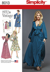 Vintage 1970er kjoler. Simplicity 8013.