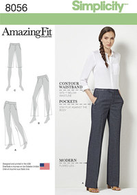 Slanke bukser. Simplicity 8056.