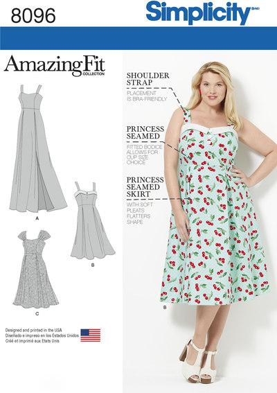 Kjoler i store størrelser med godt fit