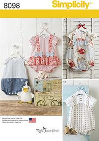 Kjoler og udstoppet and til småbørn. Simplicity 8098.