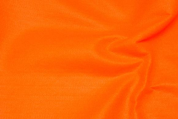 Klar orange hobby-filt i 180 cm bredde