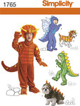 Simplicity 1765. Dinosaur udklædning til børn og dyr.