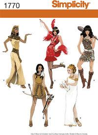Kostumer til kvinder. Simplicity 1770.