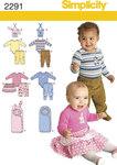 Simplicity 2291. Babytøj.