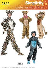 Løve, leopard og gorilla udklædning. Simplicity 2855.