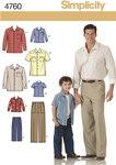 Simplicity 4760. Skjorter og bukser.