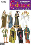 Simplicity 4795. Ruder konger, messias, kristus udklædning.