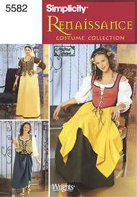 Renaissance kostumer, kjoler. Simplicity 5582.