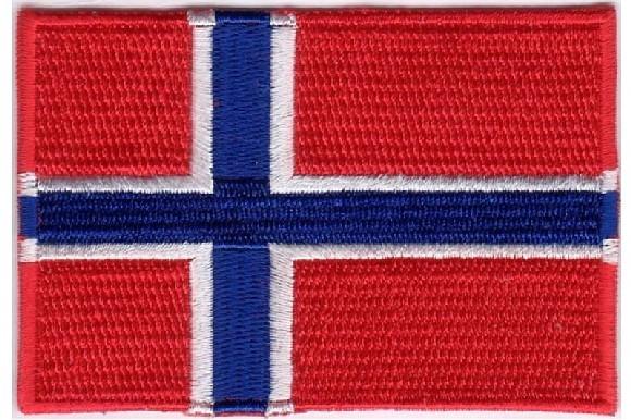 Strygemærke norsk, dansk eller tysk flag