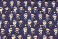 Sjov, marine bomuldsjersey med politi og røvere