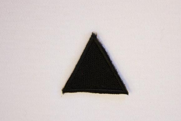 Sort trekant strygemærke 3cm