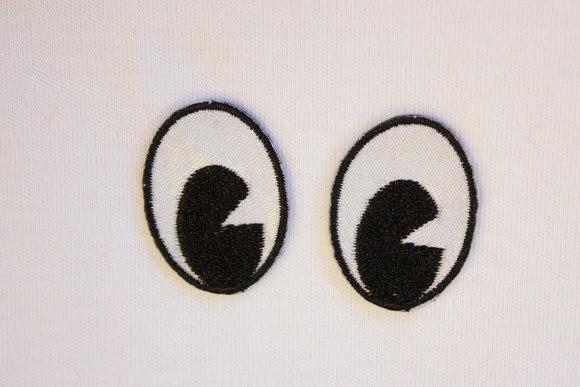 Øjne strygemærker stor 3x2cm