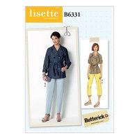 Burda 6331. Raglan ærme, trench jakke og tilspidsende bukser.