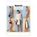 Burda 6332. Kraveløs jakke, kjole, nederdel og bukser.
