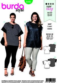 T-shirt, bluse. Burda 6445.